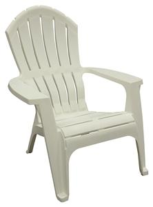 Adams RealComfort 8371-48-3700 Adirondack Chair, 250 lb Weight Capacity, Polypropylene Frame, White Frame Outdoor Furniture Adams mfg