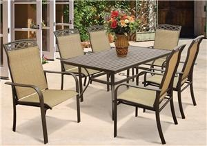 Seasonal Trends T6R60UO3J33 Dining Table, Steel Outdoor Furniture Seasonal trends