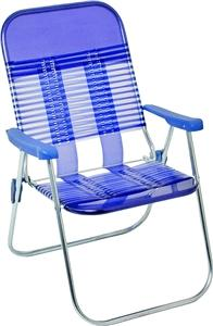 Seasonal Trends S15015-B Chair, 250 lb Capacity, PVC Seat, Steel Frame, Sliver Frame Outdoor Furniture Seasonal trends