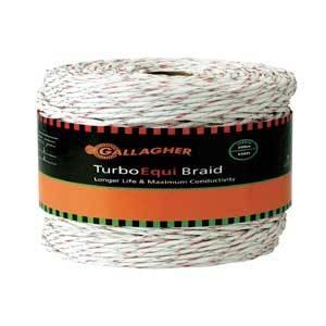 Gallagher G62174 Turbo Equibraid Wire, Metal Conductor, White Fencing Gallagher power fence
