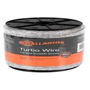 Gallagher G620564 Turbo Wire, Metal Conductor, Ultra White Fencing Gallagher power fence