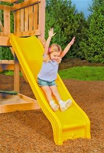 PLAYSTAR PS 8813 Conventional Scoop Slide, HDPE, Yellow, For 48 in Playdeck Playground Equipment Playstar
