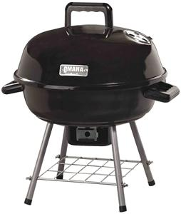 Omaha GY22014I Kettle Charcoal Grill, 14-1/8 in W Cooking Surface, 14-1/8 in D Cooking Surface, Steel Grills, Smokers & Fireplaces Omaha