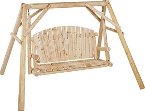 Seasonal Trends NW-59N Log Swing and Frame Kit, 2 Seating, 500 lb Weight Capacity, Wood Frame Outdoor Furniture Seasonal trends