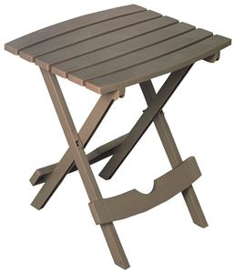 Adams Quik-Fold 8510-96-3734 Side Table, Rectangular, Polypropylene, Portobello Outdoor Furniture Adams mfg