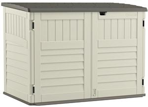 Suncast Stow-Away BMS4700 Storage Shed, 70 cu-ft Capacity, 63-1/2 in W x 46-1/2 in H Door, Lockable Door, Resin Outdoor Storage Suncast