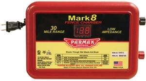 Parmak MARK 8/7 Electric Fence Charger, 110/120 V, 1.1 to 4.9 J Fencing Parker mccrory mfg.