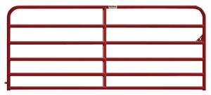 Behlen Country 40120121 Bull Gate, 50 in H, 144 in W, Steel Frame, Red Fencing Behlen/farmaster