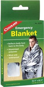 Coghlans 8235 Lightweight Emergency Blanket, 82-1/2 in L x 52 in W, Aluminum/Non-Stretch Polyester Camping & Outdoor Coghlan's canada