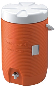Rubbermaid FG16830111 Heavy Duty Water Cooler, 16.65 in L x 12.53 in W x 11 in H, Bail Handle, White Cap/Lid