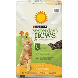 Yesterday's News Litter UnScented 30 Lb Cat Supplies Yesterday's News
