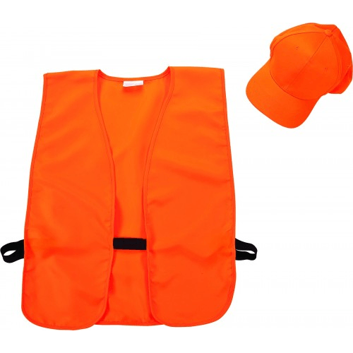 Hat & Vest Combo, Blaze Orange Hunting Continental Sports Inc.