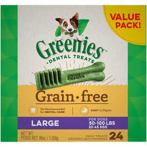 Greenies Grain Free Value Tub Large 36oz Dog Food Greenies