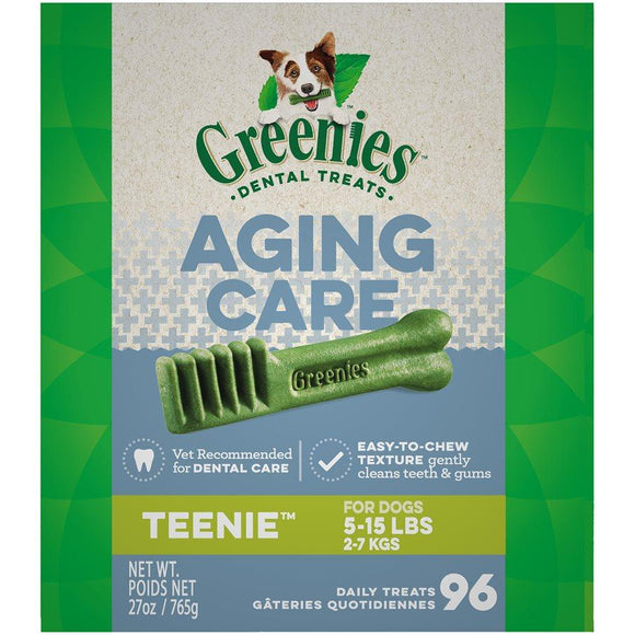 Greenies Complete Aging Care Dental Treats for Dogs Teenie 27oz Dog Food Greenies