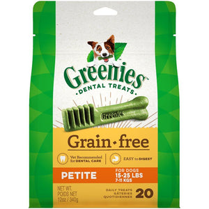 Greenies Grain Free Treat-Pak 12oz Petite Dog Supplies Greenies