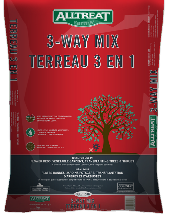 30L All Treat Farms 3-Way Mix, 15 kg Package, Bag