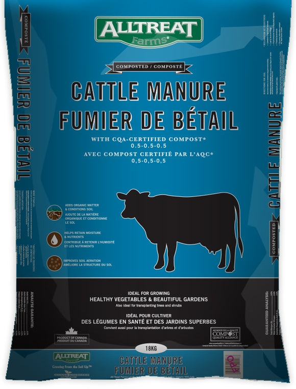 All Treat Farms Cattle Manure, 18 kg Package, Bag