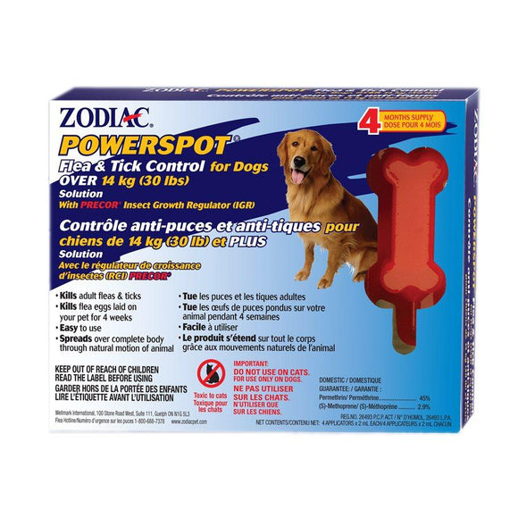 POWER Spot On Dogs (Lg Breed) Dog Supplies Zodiac