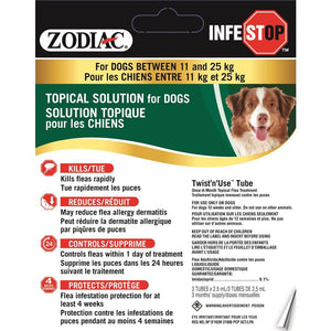 Zodiac Infestop Topical Flea Adulticide for Dogs 11KG - 25KG Dog Supplies Zodiac