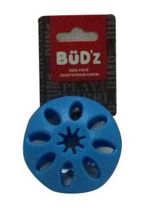Bud'z Rubber Treat Disc Blue Dog Toy Medium 3.5in KB Depot Express