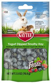 Fiesta Blueberry and Strawberry Yogurt Dipped Timothy Hay 2.5oz KB Depot Express