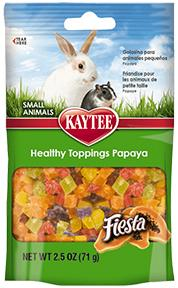 Kaytee Fiesta Healthy Toppings Papaya Treat 2.5oz KB Depot Express