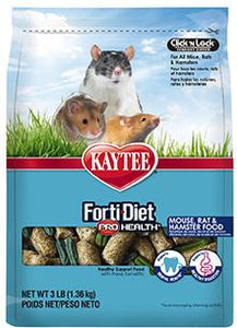 Kaytee Forti Diet Pro Health Mouse Rat Hamster 3lb KB Depot Express