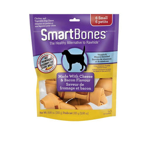 Spectrum SmartBones Bacon & Cheese Small 6 Pack Dog Supplies Spectrum Brands