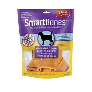 Spectrum SmartBones Bacon & Cheese Large 3 Pack Dog Supplies Spectrum Brands