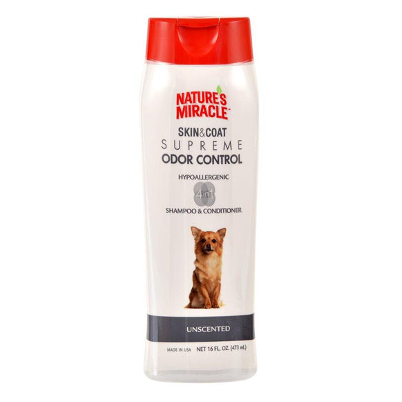 UPG Nature's Miracle Supreme Odor Control Hypoallergenic Shampoo 16oz Dog Supplies Spectrum Brands