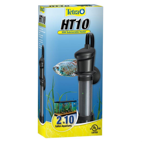 Tetra HT10 Submersible Heater 50W 2 to 10 Gallons Aquatic Spectrum Brands