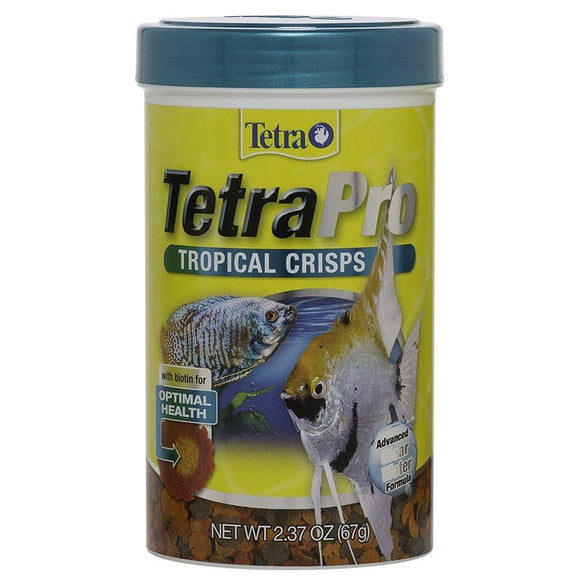 Spectrum Tetra PRO Fish Food Tropical Crisps 2.37oz Aquatic Spectrum Brands