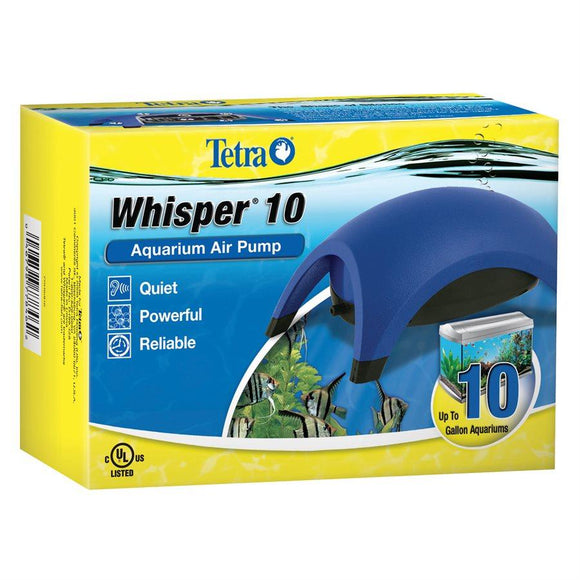 Tetra Whisper Air Pump 010 (UL) up to 10 Gallons Aquatic Spectrum Brands