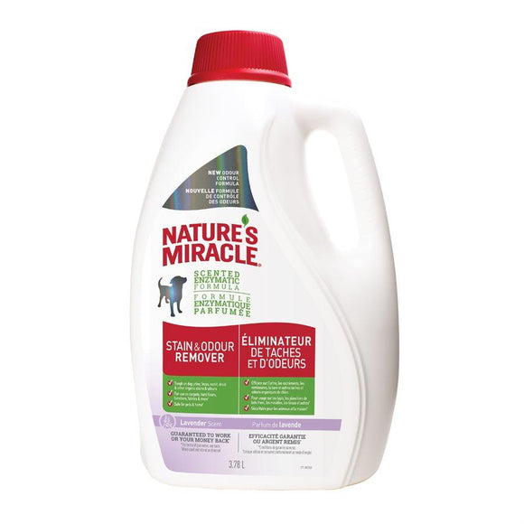 Spectrum Nature's Miracle Stain & Odor Remover Lavender 1 Gallon 128oz Dog Supplies Spectrum Brands