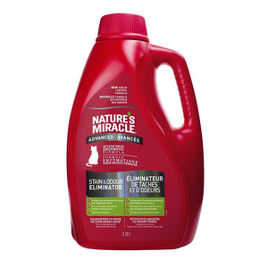 Spectrum Nature's Miracle Just for Cats Stain & Odor Remover Advanced 1 Gallon 128oz Cat Supplies Spectrum Brands
