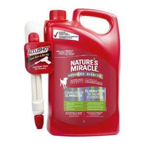 Spectrum Nature's Miracle Advanced Stain & Odor Remover Accushot 170oz Dog Supplies Spectrum Brands