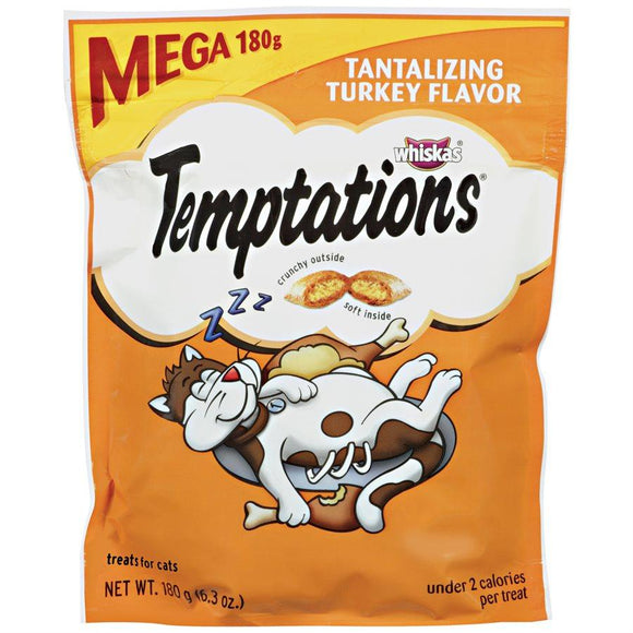 Temptations Cat Treats Tantalizing Turkey Flavor 180g Cat Food MARS Petcare