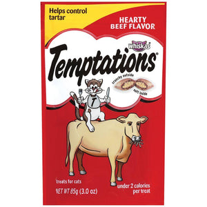 Temptations Cat Treats Hearty Beef Flavor 85g Cat Food MARS Petcare