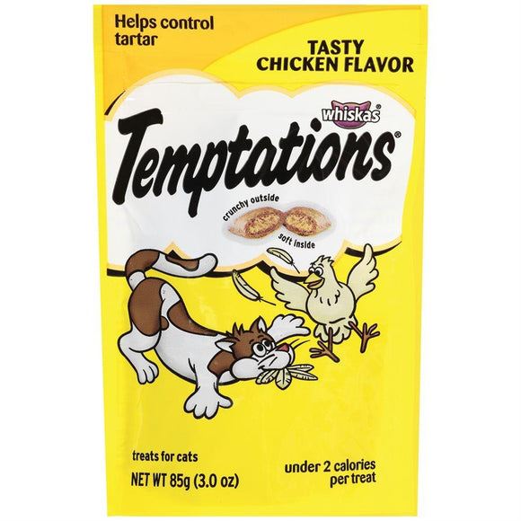 Temptations Cat Treats Tasty Chicken Flavor 85g Cat Food MARS Petcare