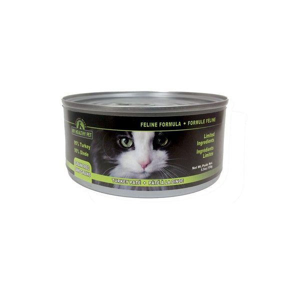 My Healthy Pet Grain Free Turkey Pate for Cats 24/156g Cat Food Holistic Blend