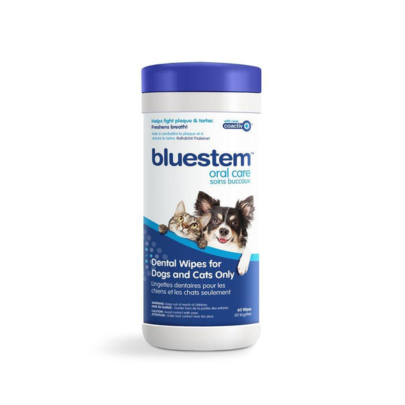 Bluestem Oral Care Original Flavor Dental Wipes 60 Count Cat Supplies Bluestem Oral Care