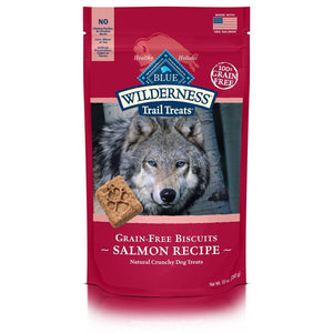 Blue Wilderness Trail Treats Biscuits Grain Free Salmon Treats 6/10 oz Dog Treats Blue Buffalo