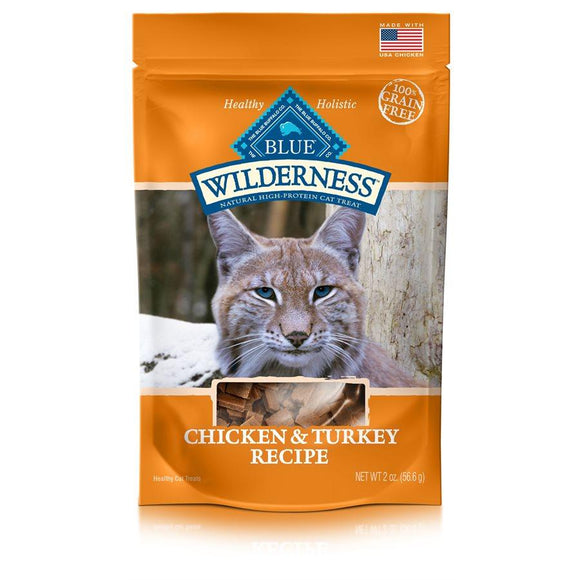 Blue Wilderness Chicken & Turkey Treats 12/2 oz Cat Food Blue Buffalo
