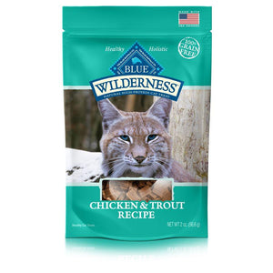 Blue Wilderness Chicken & Trout Treats 12/2 oz Cat Food Blue Buffalo