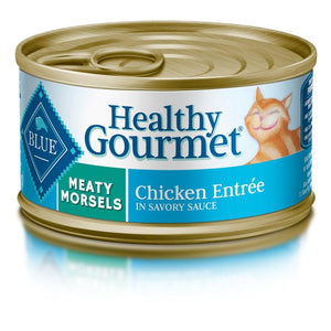 Blue Healthy Gourmet Adult Meaty Morsels Chicken Entrée 24/3 oz Cat Food Blue Buffalo