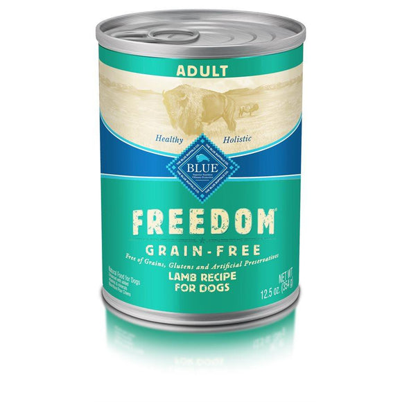 Blue Freedom Grain Free Adult Lamb 12/12.5 oz Dog Food Blue Buffalo