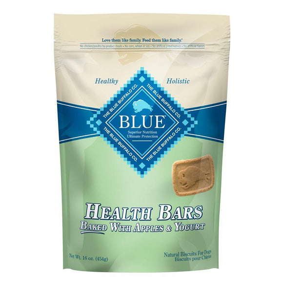 Blue Health Bars with Apples & Yogurt 12/16oz Dog Treats Blue Buffalo