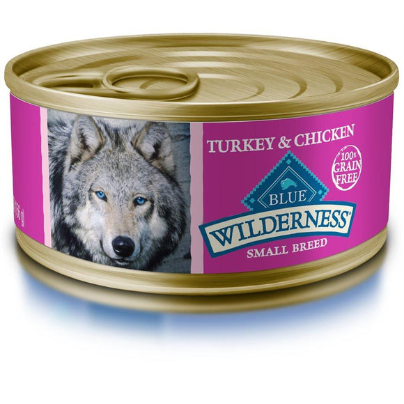 Blue Wilderness Small Breed Adult Turkey & Chicken Grill 24/5.5 oz Dog Food Blue Buffalo