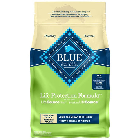 Blue Buffalo Life Protection Small Breed Adult Dog Lamb 15LB Dog Food Blue Buffalo