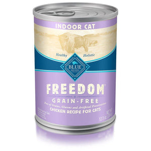 Blue Freedom Grain Free Indoor Adult Chicken Recipe 12/13 oz Cat Food Blue Buffalo